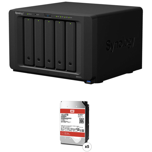 Synology DiskStation 50TB DS1517+ 5-Bay NAS Enclosure Kit with WD NAS Drives (5 x 10TB)