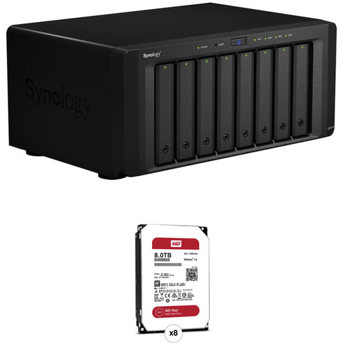 Synology DiskStation 64TB DS1815+ 8-Bay NAS Server (8 x 8TB)