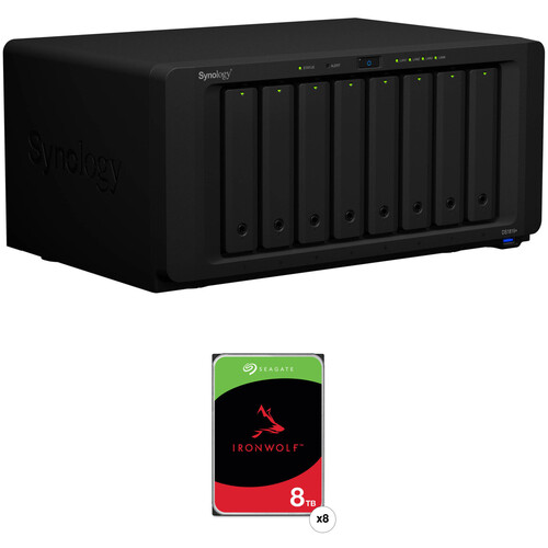 Synology DiskStation 64TB DS1819+ 8-Bay NAS Enclosure Kit with Seagate NAS Drives (8 x 8TB)