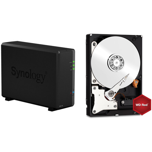 Synology DiskStation 6TB DS118 1-Bay NAS Enclosure Kit with WD NAS Drives (1 x 6TB)