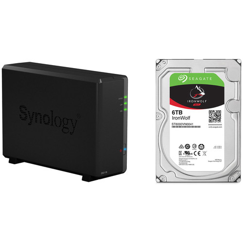 Synology DiskStation 6TB DS118 1-Bay NAS Enclosure Kit with Seagate NAS Drives (1 x 6TB)