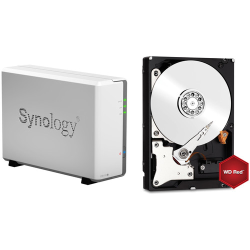 Synology DiskStation 6TB DS119j 1-Bay NAS Enclosure Kit with WD NAS Drive (1 x 6TB)