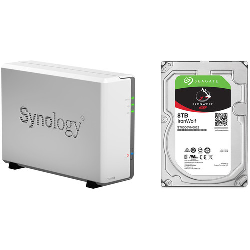 Synology DiskStation 8TB DS119j 1-Bay NAS Enclosure Kit with Seagate NAS Drive (1 x 8TB)