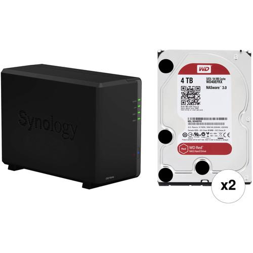 Synology DiskStation 8TB DS216play 2-Bay NAS Server Kit (2 x 4TB)
