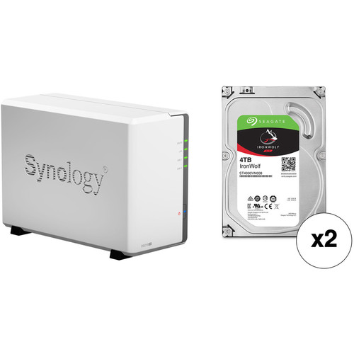 Synology DiskStation 8TB DS216se 2-Bay NAS Enclosure Kit with Seagate NAS Drives (2 x 4TB)