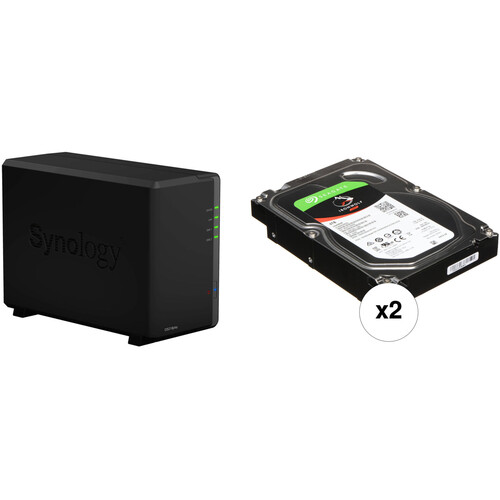 Synology DiskStation 8TB DS218play 2-Bay NAS Enclosure Kit with Seagate NAS Drives (2 x 4TB)
