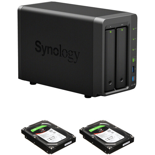 Synology DiskStation 8TB DS718+ 2-Bay NAS Enclosure Kit with Seagate NAS Drives (2 x 4TB)