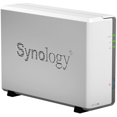 Synology DiskStation DS115j 4TB (1 x 4TB) Single Bay NAS Server Kit with WD Red Drives