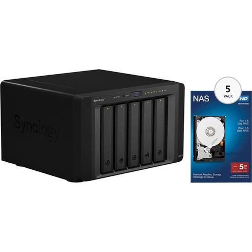 Synology DiskStation DS1515+ 25TB (5 x 5TB) 5-Bay NAS Server Kit