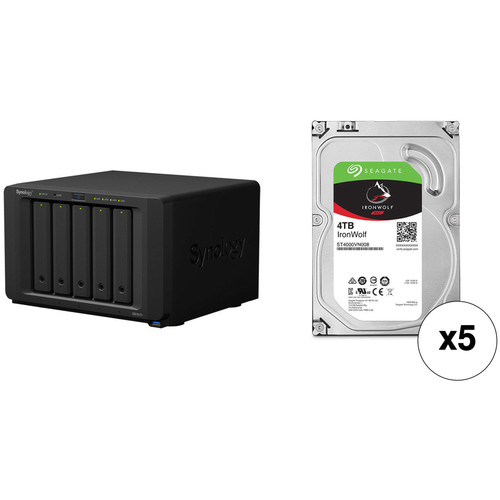 Synology DiskStation 20TB DS1517+ 5-Bay NAS Enclosure Kit with Seagate NAS Drives (5 x 4TB)