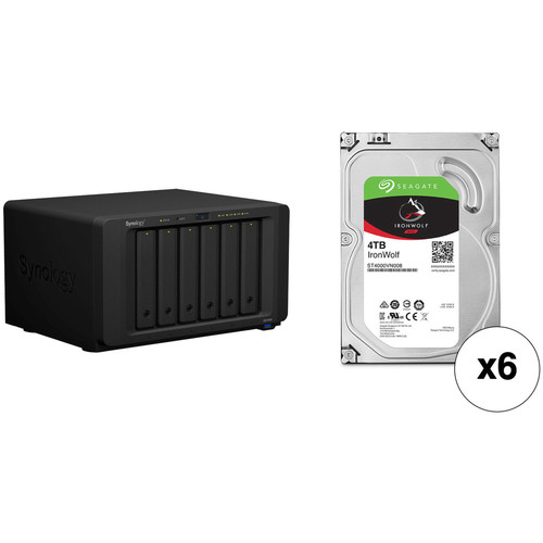Synology DiskStation DS1618+ 24TB 6-Bay NAS Enclosure Kit with Seagate NAS Drives (6 x 4TB)