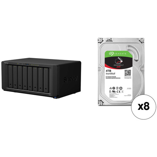 Synology DiskStation DS1817+ 32TB 8-Bay NAS Enclosure Kit with Seagate NAS Drives (8 x 4TB)