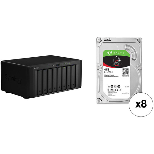 Synology DiskStation DS1817 32TB 8-Bay NAS Enclosure Kit with Seagate NAS Drives (8 x 4TB)