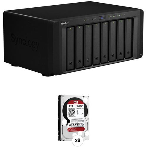 Synology DiskStation DS1815+ 48TB (8 x 6TB) 8-Bay NAS Server Kit