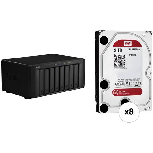 Synology DiskStation DS1815+ 16TB (8 x 2TB) 8-Bay NAS Server Kit
