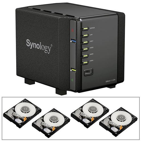 Synology DS411 4TB (4 x 1TB) DiskStation 4-Bay NAS Server B&H Kit