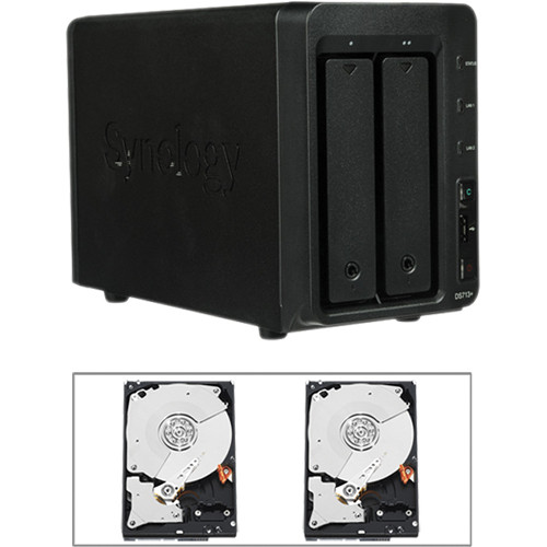 Synology 4TB (2 x 2TB) DS713+ 2-Bay NAS Server Kit with Drives
