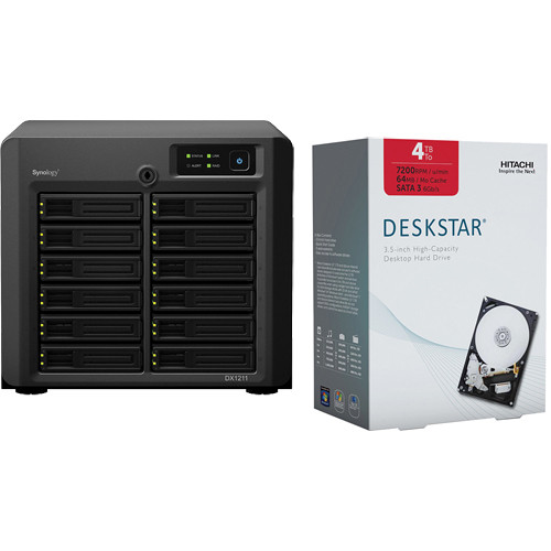 Synology DX1211 12-Bay Expansion Unit with Hard Drives Kit