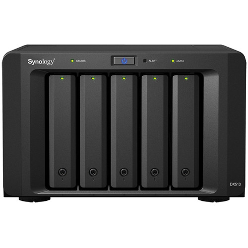 Synology 25TB (5 x 5TB) Synology DiskStation DX513 5-Bay Expansion Unit with WD Network Hard Drives