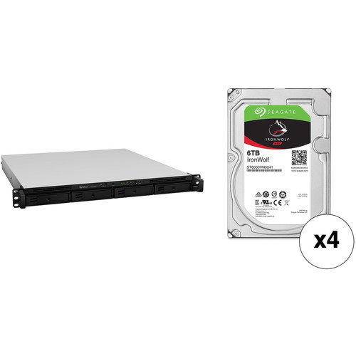 Synology RackStation 24TB RS818RP+ 4-Bay NAS Server Kit with Seagate NAS Drives (4 x 6TB)