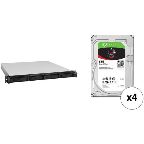 Synology RackStation 32TB RS818+ 4-Bay NAS Server Kit with Seagate NAS Drives (4 x 8TB)