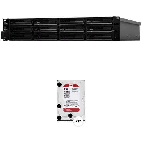 Synology RackStation 48TB RS3617xs 12-Bay NAS Server Kit (12 x 4TB)