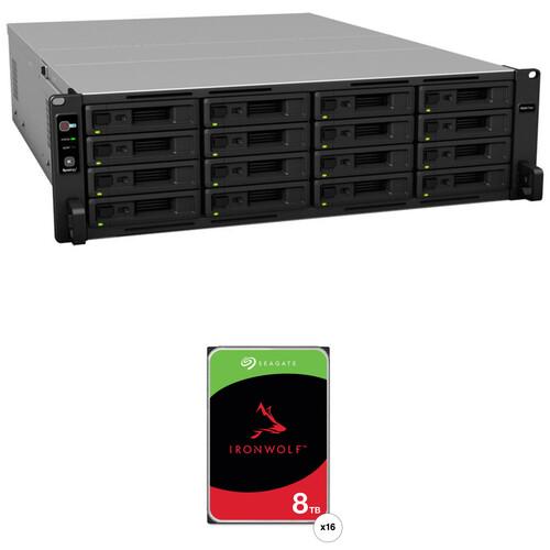 Synology RackStation RS4017xs+ 128TB 16-Bay NAS Enclosure Kit with Seagate NAS Drives (16 x 8TB)