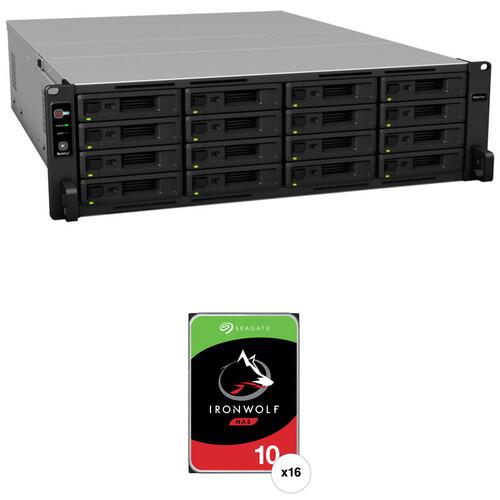 Synology RackStation RS4017xs+ 160TB 16-Bay NAS Enclosure Kit with Seagate NAS Drives (16 x 10TB)