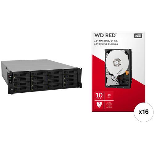 Synology RackStation RS4017xs+ 160TB 16-Bay NAS Enclosure Kit with WD NAS Drives (16 x 10TB)