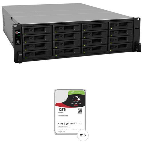 Synology RackStation RS4017xs+ 192TB 16-Bay NAS Enclosure Kit with Seagate NAS Drives (16 x 12TB)