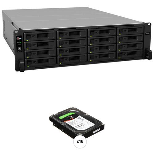 Synology RackStation RS4017xs+ 64TB 16-Bay NAS Enclosure Kit with Seagate NAS Drives (16 x 4TB)