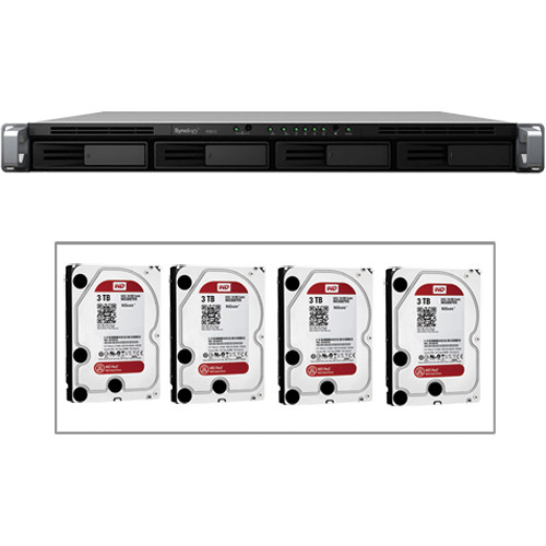 Synology 12TB (4 x 3TB) RackStation RS812 4 Bay NAS Server Kit