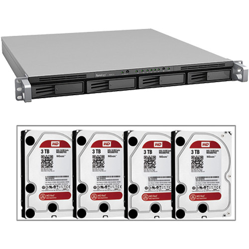 Synology RackStation RS812RP 4-Bay NAS Server with Drives (B&H Kit)