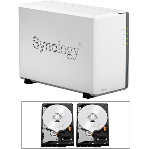 Synology 4TB (2 x 2TB) DS213J DiskStation 2-Bay NAS Server Kit with Drives