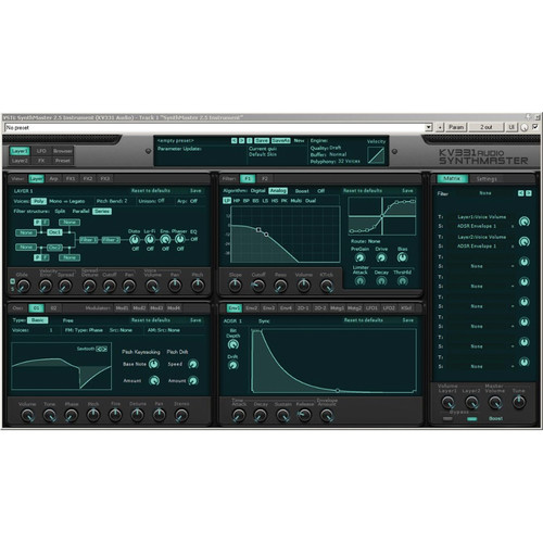 KV331 Audio SynthMaster 2.9 - Semi-Modular Software Synthesizer Plug-In (Download)