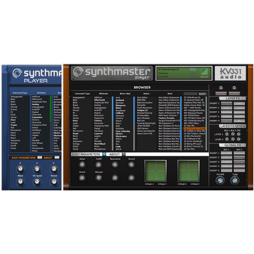 KV331 Audio SynthMaster Player - Preset Software Synthesizer (Download)