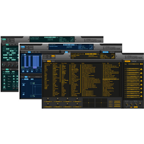 KV331 Audio SynthMaster Everything Bundle - Semi-Modular Software Synthesizer (Download)