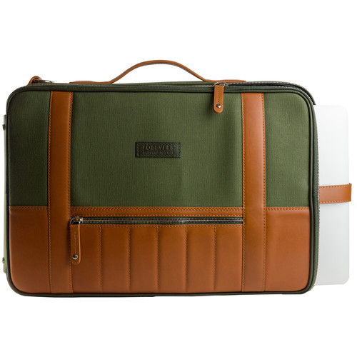 T. Forevers 48HR Switch Briefcase/Backpack (Rum Leaver/Olive Canvas)