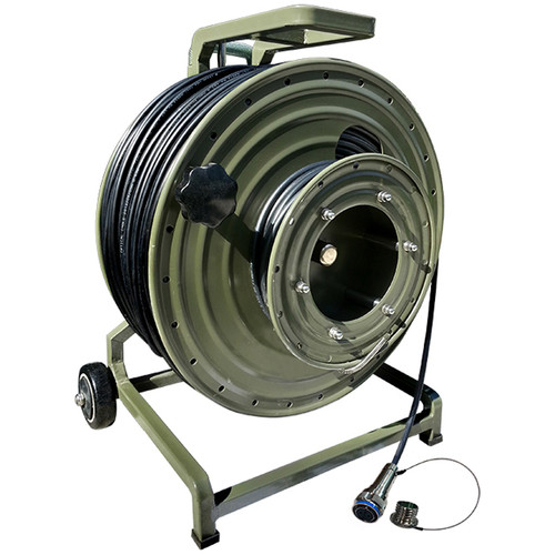 Tactical Fiber Systems Cable Military Reel with Magnum Connectors (16 Fibers, Single-Mode, 1000')