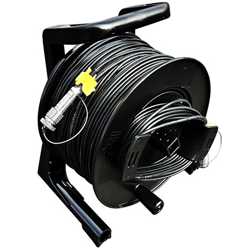 Tactical Fiber Systems Cable Reel with Magnum Connectors (1500', 2-Fiber, Single-Mode)