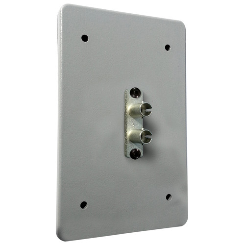 Tactical Fiber Systems Standard Wall Plate with Duplex ST Connector