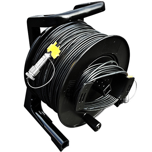 Tactical Fiber Systems DuraTAC Armored Cable & Reel with Magnum Connectors (4-Fibers, Single Mode, 250 ft)