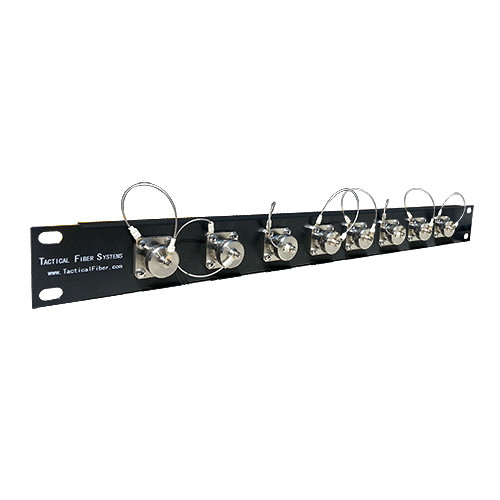 Tactical Fiber Systems 8-Port Magnum Patch Panel with 8-Magnum Quad Chassis Connectors and Patch Cables (4-Fiber)