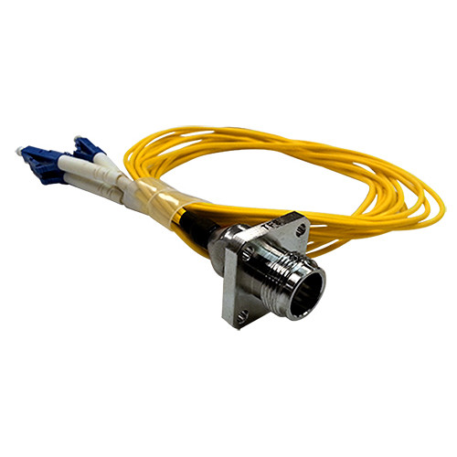 Tactical Fiber Systems Magnum Quad Chassis Connector with Patch Cable (4 LC Breakout)