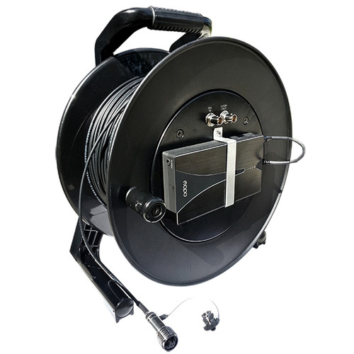 Tactical Fiber Systems CamLink Plus Fiber Transmission System Cable Reel with Built-In 3G-HD/SD-SDI Transmitter & Receiver (LC Connector, 1 Fiber, Single Mode, 1500')