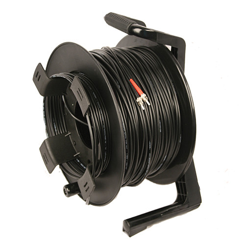 Tactical Fiber Systems DuraTAC Armored SM Tactical Fiber Cable & Reel with 2 ST Connectors (250')