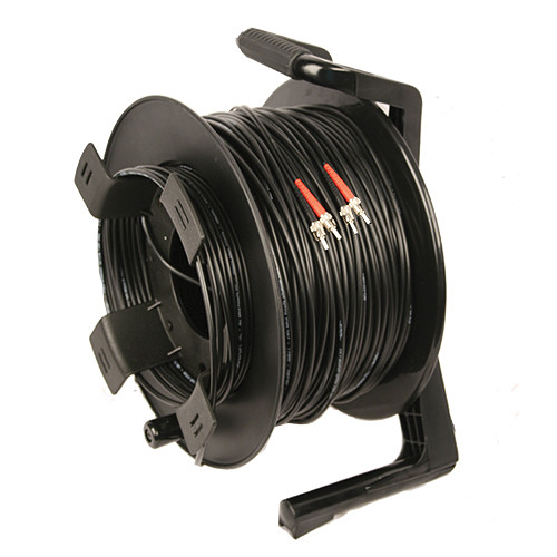 Tactical Fiber Systems DuraTAC Armored SM Tactical Fiber Cable & Reel with 4 ST Connectors (500')
