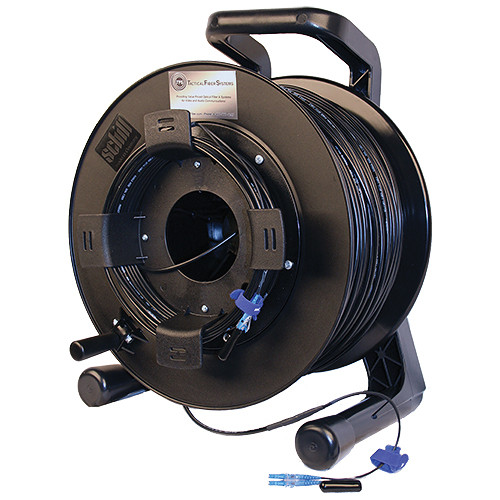 Tactical Fiber Systems DuraTAC Armored SM Tactical Fiber Cable & Reel with 2 LC Connectors (500')