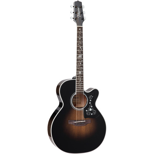 Takamine EF450C TT TBB Thermal Top Series Acoustic/Electric Guitar w/Case (Transparent Blackburst)