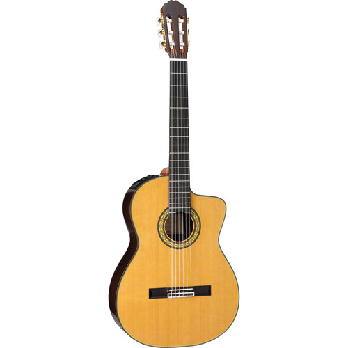 Takamine TH5C Hirade Concert Classical Acoustic/Electric Guitar with Case